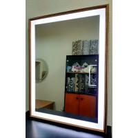 Зеркало в деревянной раме с LED подсветкой Axl Rose Античное золото