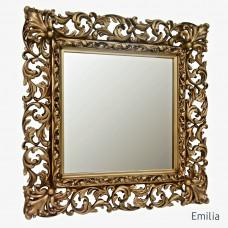 Зеркало квадратное настенное в раме Emilia Чернёное золото