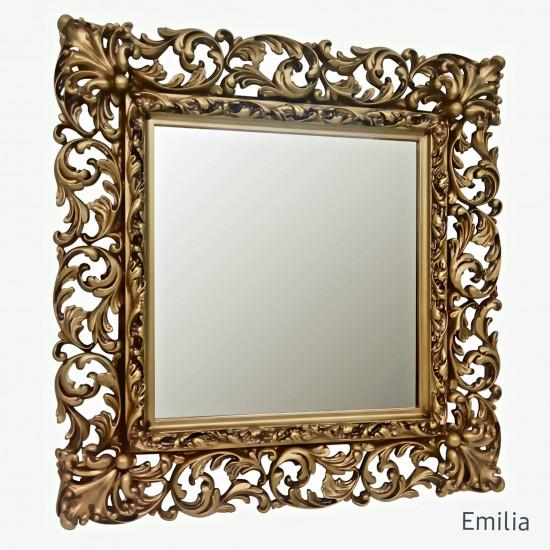 Зеркало квадратное настенное в раме Emilia Чернёное золото в интернет-магазине ROSESTAR фото