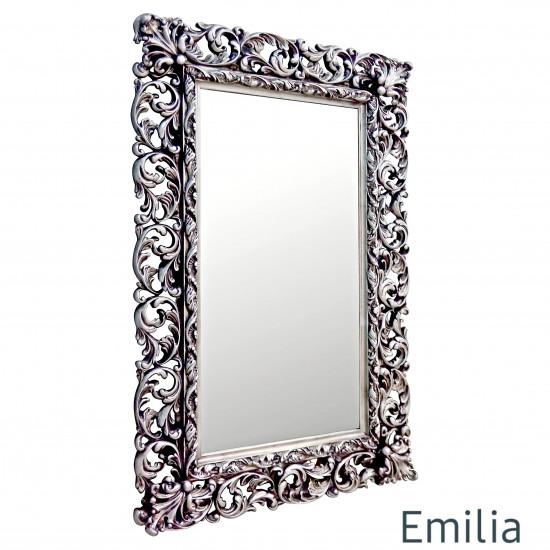 Зеркало настенное в раме Emilia Чернёное серебро в интернет-магазине ROSESTAR фото