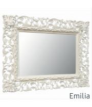Зеркало настенное в раме Emilia Слоновая кость