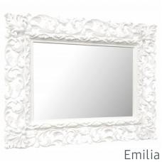 Зеркало настенное в раме Emilia Белое