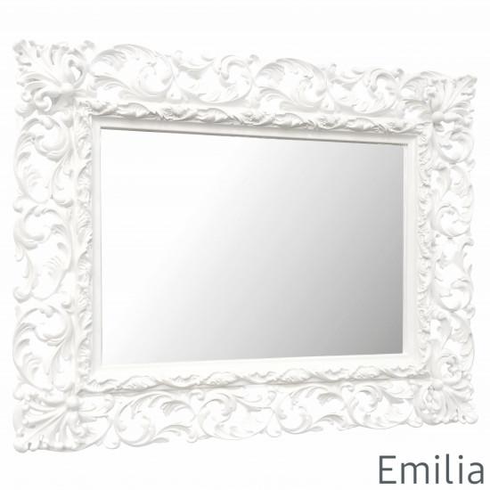 Зеркало настенное в раме Emilia Белое  в интернет-магазине ROSESTAR фото