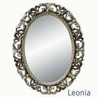 Овальное настенное зеркало в раме Leonia Бронза