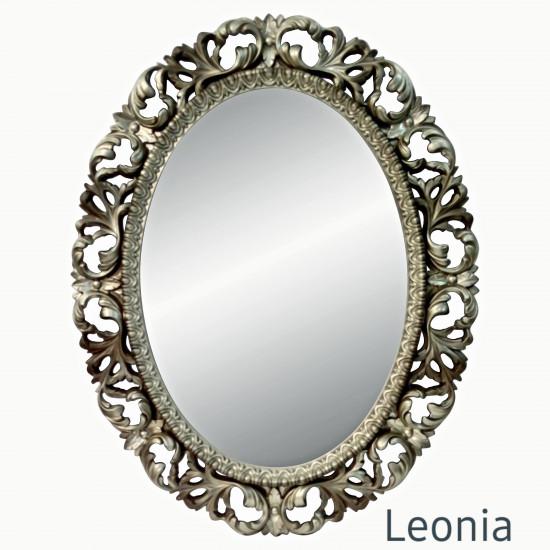 Овальное настенное зеркало в раме Leonia Бронза в интернет-магазине ROSESTAR фото