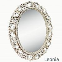 Овальное настенное зеркало в раме Leonia Прованс
