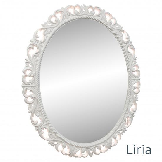 Овальное настенное зеркало в раме Liria Слоновая кость в интернет-магазине ROSESTAR фото