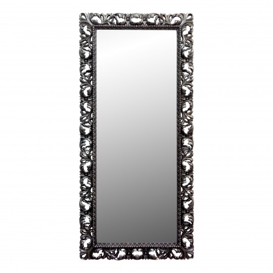Большое напольное и настенное зеркало в полный рост «Мигель» Чернёное серебро в интернет-магазине ROSESTAR фото