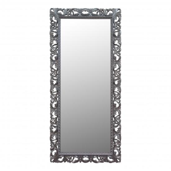 Большое напольное и настенное зеркало в полный рост «Мигель» Серебро в интернет-магазине ROSESTAR фото