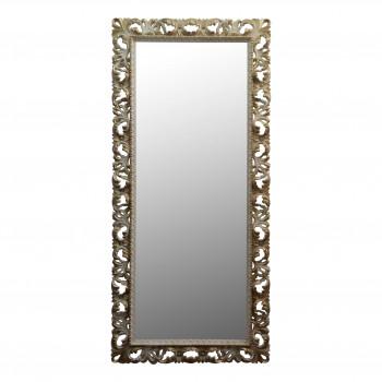 Большое напольное и настенное зеркало в полный рост «Мигель» Слоновая кость с золотом