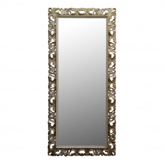 Большое напольное и настенное зеркало в полный рост «Мигель» Слоновая кость с золотом в интернет-магазине ROSESTAR фото