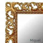 Зеркала в золотой раме в ванную