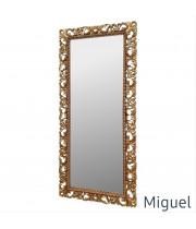 Большое напольное и настенное зеркало в полный рост «Мигель» Золото