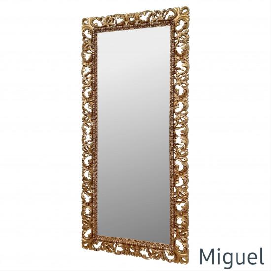 Большое напольное и настенное зеркало в полный рост «Мигель» Золото в интернет-магазине ROSESTAR фото