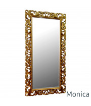 Зеркало большое напольное и настенное в золотой раме Monica Gold