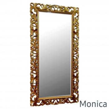 Зеркало большое напольное и настенное в полный рост в золотой раме Monica Gold