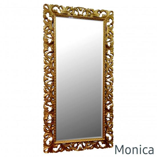 Зеркало большое напольное и настенное в полный рост в золотой раме Monica Gold в интернет-магазине ROSESTAR фото