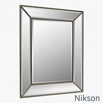 Зеркало настенное в зеркальной раме Nikson Античное Золото