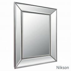 Зеркало настенное в зеркальной раме Nikson Античное Серебро
