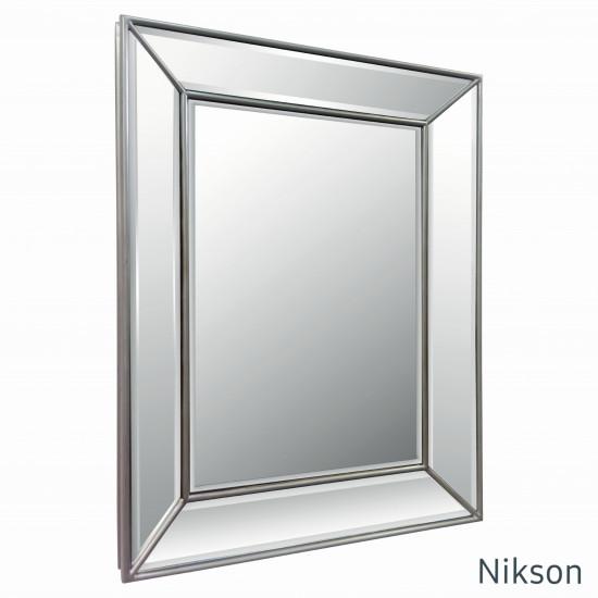 Зеркало настенное в зеркальной раме Nikson Античное Серебро в интернет-магазине ROSESTAR фото