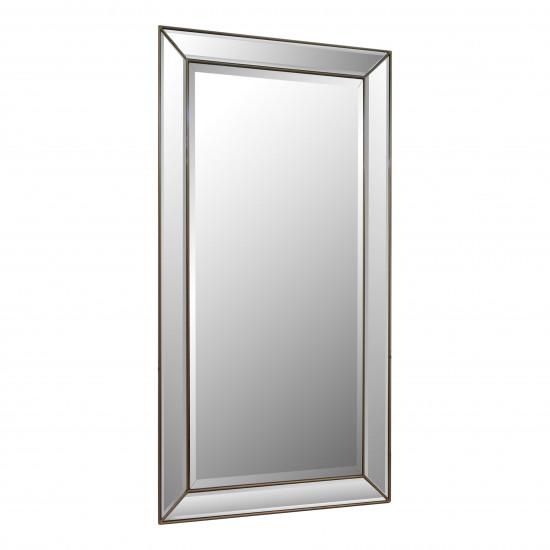 Зеркало большое напольное в раме в полный рост Nikson Античное Золото в интернет-магазине ROSESTAR фото