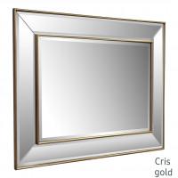 Зеркало в зеркальной золотой раме Cris Gold