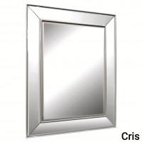 Зеркало в зеркальной серебряной раме Cris Silver