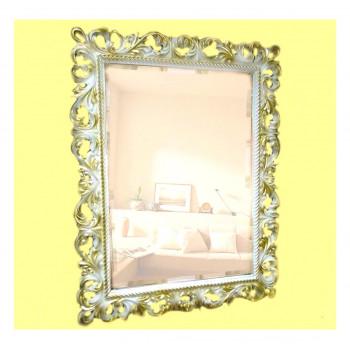 Зеркало настенное в багетной раме «Джениель» Слоновая кость с Золотом