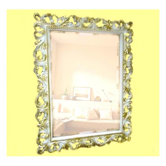 Зеркало настенное в багетной раме «Джениель» Слоновая кость с Золотом в интернет-магазине ROSESTAR фото