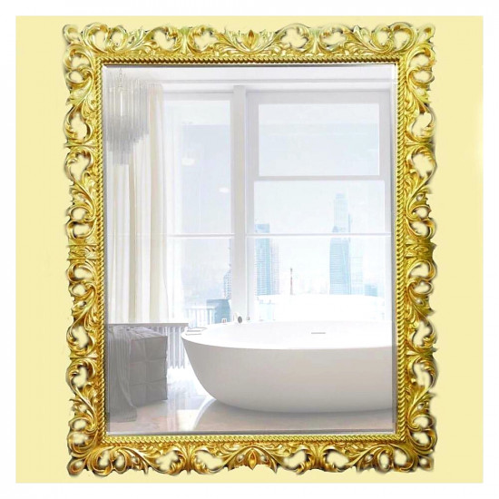 Зеркало настенное в багетной раме «Джениель» Светлое золото в интернет-магазине ROSESTAR фото