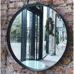 Круглые зеркала в металлической раме