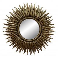 Зеркало в виде солнца «Джейн» Чернёное золото