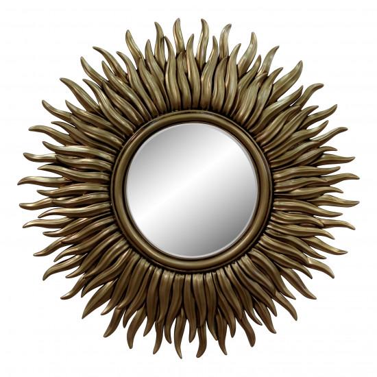 Зеркало в виде солнца «Джейн» Чернёное золото в интернет-магазине ROSESTAR фото