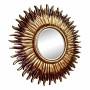 Зеркало в виде солнца «Джейн» Коричневое/золотое в интернет-магазине ROSESTAR фото
