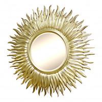 Зеркало золотое в виде солнца «Джейн» Золото