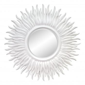 Зеркало в виде солнца «Джейн» Белое