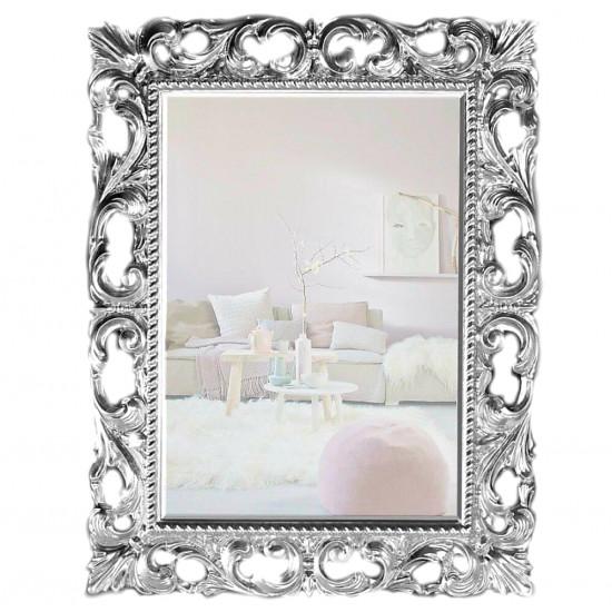Зеркало в раме «Мэри» Серебро в интернет-магазине ROSESTAR фото