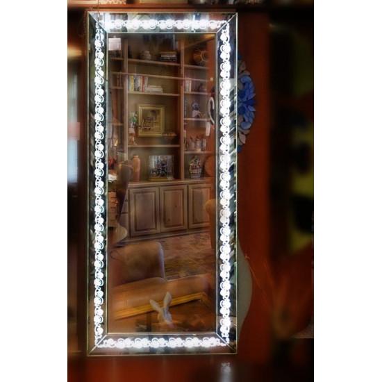 Зеркало большое напольное и настенное в полный рост с LED подсветкой Хлорис в интернет-магазине ROSESTAR фото
