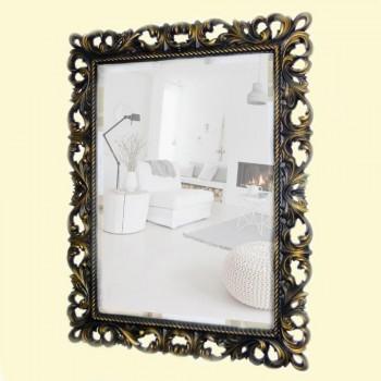 Зеркало настенное в багетной раме «Джениель» Венге с Золотом