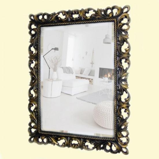Зеркало настенное в багетной раме «Джениель» Венге с Золотом в интернет-магазине ROSESTAR фото