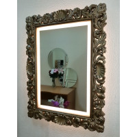 Зеркало в раме с подсветкой Ферентина Золото с патиной