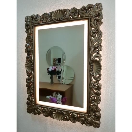 Зеркало в раме с подсветкой Ферентина Золото с патиной в интернет-магазине ROSESTAR фото