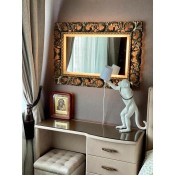 Зеркало в раме с подсветкой Ирен Бронза Тёплый свет