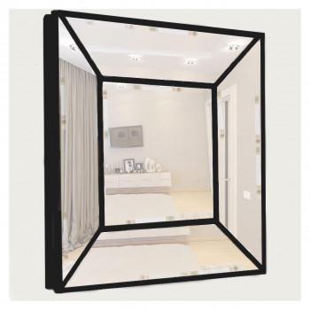 Венецианское зеркальное панно «Кристалл» Чёрное