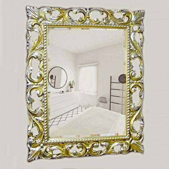 Зеркало в раме «Мэри» Серебро Шампань в интернет-магазине ROSESTAR фото