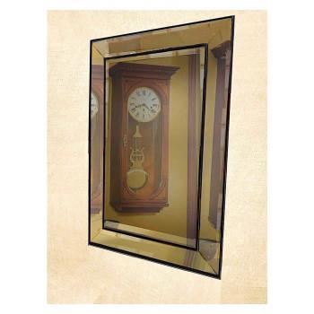 Венецианское зеркало «Пассаж» в зеркальной раме Чёрное
