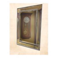 Венецианское зеркало «Пассаж» в зеркальной раме Серебро