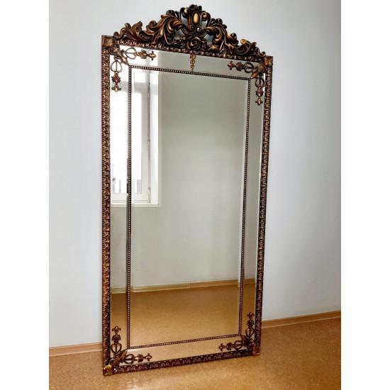Напольное большое зеркало в золотой раме Паулина в интернет-магазине ROSESTAR фото