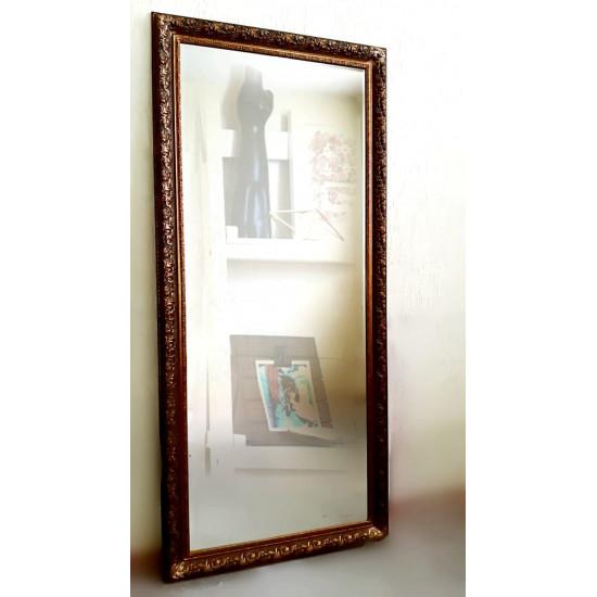 Большое напольное и настенное зеркало в полный рост в багетной раме «Регина» Золото в интернет-магазине ROSESTAR фото
