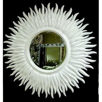 Зеркало солнце с лучами «Маргарита» Белое